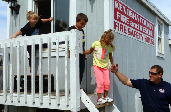 The Kenosha County Fire Safety House instructed the kids about what to do in case of a fire.