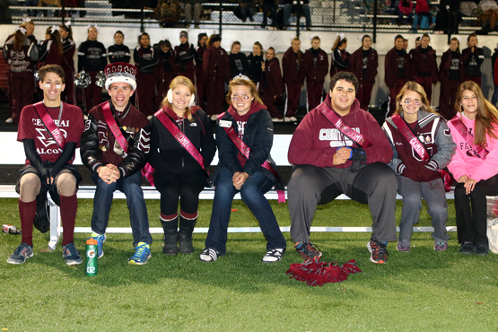 Homecoming king and queen and court