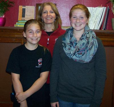 Front row: McKinley Boyle, Lauren Christensen Back row: Teacher Karen Reddin. /Submitted photo