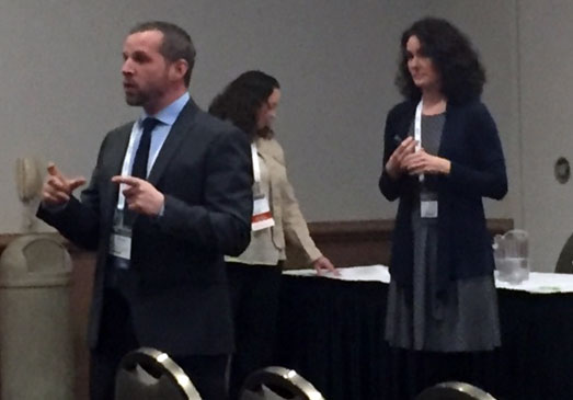 District administrator Joe Price, director of curriculum and instruction Sara Markee and school board President Amanda Hahn at the WASB convention. /Submitted photo
