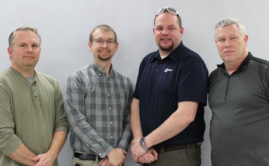 From left: Bert Christensen, Garrett Pongratz., Eric Andersen and Scott Kessler. /Submitted photo