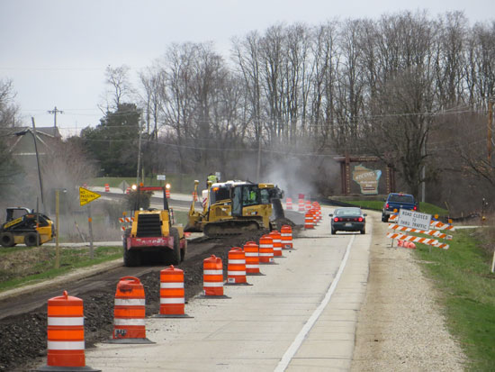 Milling in the southbound lanes. /WisDOT photo