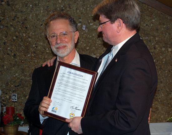 Paul Gagliardi (right) and County Executive Jim Kreuser.